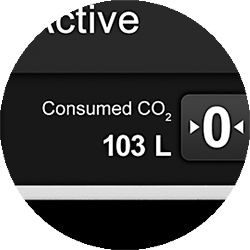 gas consumption display image